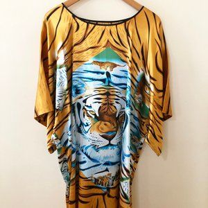 Tiger Print Kaftan  Cover-up